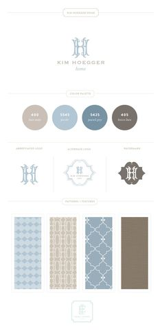 Branding-Board - a definite for men: blue toned colour palette, strong and anchored typeface