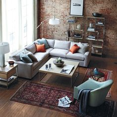This smaller sectional is a great way to add plenty of seating for everyone.