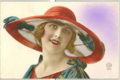 MQ111-ART-DECO-FEMME-MODE-CHAPEAU-KITSCH-HIGH-FASHION-LADY-HAT-PHOTO-dART