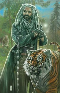 King Ezekiel & Shiva (The Walking Dead) #KingEzekiel #KharyPayton #Shiva #TWD #FanArt