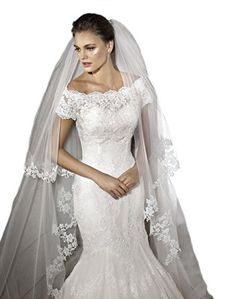 Gogh White 2 Tiers 3M Cathedral Long Wedding Veil Lace Br... https://www.amazon.com/dp/B01CGN08AA/ref=cm_sw_r_pi_dp_x_x6M0zb0VAJGH5
