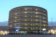 Unusual circular shaped multi-storey car park at Eldon Square Shopping Centre in Newcastle upon Tyne Eldon Square, Car Parks, Year 2, Shopping Center, Newcastle, England, Textiles, History, Space