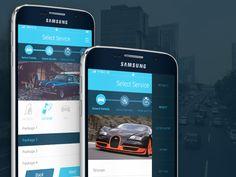 Car Wash App UI  by Umair Ulhaque
