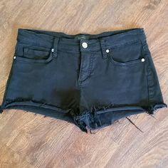 Bebe Black Cut off Short Size 28 Great condition bebe Shorts Jean Shorts