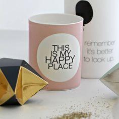 "Photophore ""This is my happy place"" Chandeliers, Luminaire Design, Hidden Treasures, Pastel, Tea Light Holder, My Happy Place, Little Things, Tea Lights, Mugs"
