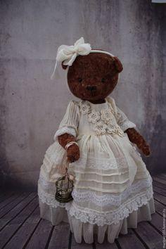 Купить Марьяна - коричневый, молочный, винтажный стиль, винтаж, мишка, мишка тедди