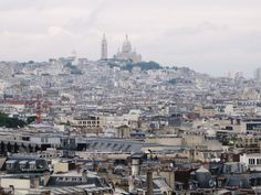 View of Sacre Coeur from Arc de Triomphe #Paris #France. Photo by Carly Carson