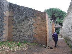 II.7.9 Pompeii. Palaestra. December 2006. North corner.