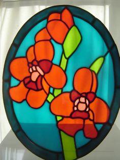 Sawfly Orchid 27 x 21 cm, £15.00