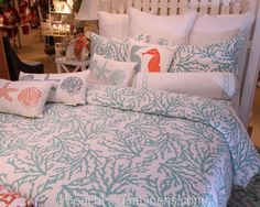 Cora Reversible Quilted Coverlet Seafoam