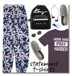 """Say It Loud: Slogan T-Shirts"" by justkejti ❤ liked on Polyvore featuring Hollister Co., Kenzo, Master & Dynamic, casual, statementtshirt, slogantshirts and zaful"