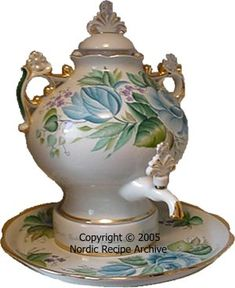 Porcelain Tea Samovar. Sweet!
