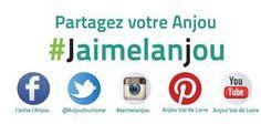 La communauté des fans de l'Anjou avec le hashtag #Jaimelanjou