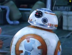 BB-8 giving the thumbs-up in Star Wars: The Force Awakens