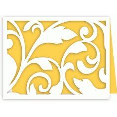 Silhouette Design Store: a2 flourish decoration lace card