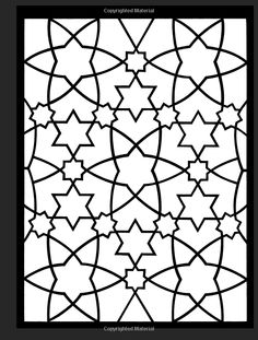Arabic Patterns Stained Glass Coloring Book Dover Design A G