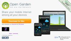 Open Garden, vous propose le partage de votre connexion internet