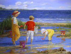 """DIVAGAR SOBRE TUDO UM POUCO: """"Lembranças de Verão"""" - Pintora Sally Swatland"""
