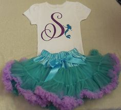 Disney Inspired the Little Mermaid Outfit, Little Mermaid Princess Ariel Birthday Outfit, Girl Mermaid Tee, Ariel Clothes inspired,