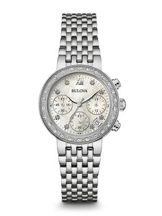 Bulova 96R204 Women's Diamond Chronograph Watch | Bulova
