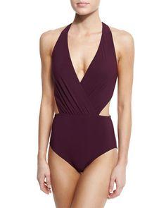 TDE73 Karla Colletto Basics Halter Monokini Swimsuit