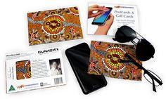 Colin Jones Kangaroo Dot Ochre Microfibre Cloth Gift Card