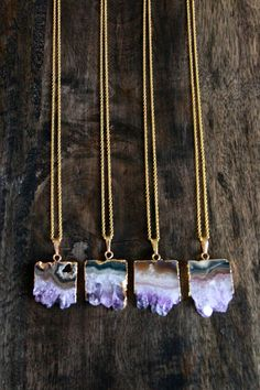 Amethyst Geode Slice Necklace by MesaBlue on Etsy, $48.00
