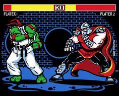 TMNT as Street Fighter