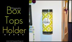 http://www.itsybitsypaperblog.com/2012/09/magnetic-box-tops-holder.html | Magnetic Box Tops Holder . . .