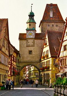 Rothenburg on the Romantic road ~ Germany. I visited there many times when I live in Germany. Places Around The World, Oh The Places You'll Go, Travel Around The World, Places To Travel, Places To Visit, Wonderful Places, Great Places, Beautiful Places, Amazing Places