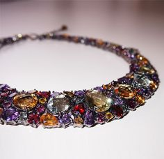 Our Vedette necklace is Oscar-worthy, over 200 carats of gemstones.  #SummerWithPlukka  www.plukka.com