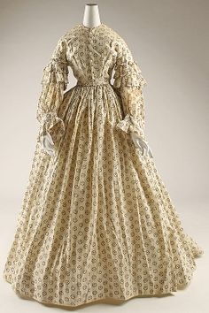 Dressing gown 1855-65 American Cotton