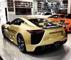 Lexus LFA Crystal Gold