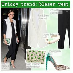 How To Wear Tricky Trend Blazer Vest Outfit Idea 2017 - Fashion Trends Ready To Wear For Plus Size, Curvy Women Over 20, 30, 40, 50