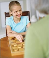 Games like Checkers, Chess, Monopoly and Clue help boost executive function for ADHD kids, and are fun for the whole family!