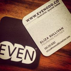 New business cards! It's like Christmas for us