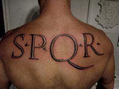 Spqr Tattoo