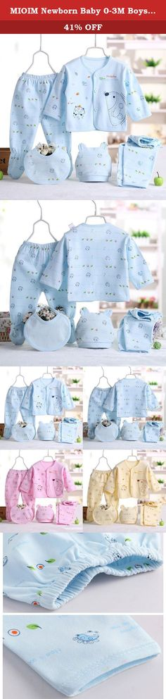 MIOIM Newborn Baby 0-3M Boys Girls Cotton Tops Hat Pants Outfit Sets 5PCS. Description: Brand: MIOIM, only sold by MIOIM store on Amzon. 100% Brand New And High Quality Material: Cotton Sleeve Length: Long Sleeve Gender: Unisex Baby This cute outfits is super value! With it's organic cotton casual clothes it will be perfect for daytimes leisure Best gift. Size:0-3 Months Baby Size: One size(Size conversion: 1cm = 0.394 inches. All sizes quoted are Asia sizes. Please refer to the size…
