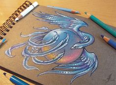 Ice phoenix - tattoo design by AlviaAlcedo.deviantart.com on @deviantART