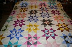 Martha Washington Star pattern -- second quilt I made 4 years ago