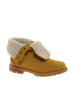 Timberland Authentics Teddy Fleece Fold Down Lace Up Boot at ASOS