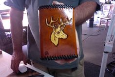 Wallet / Men / Leather / Horse / Deer / Fish / Custom / Tri Fold / Hand Carved and Tooled / Hand Crafted / Man / Leather - Wallet / Wildlife