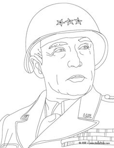 coloring pages general george patton coloring page