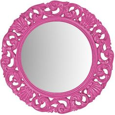 Glendale Wall Mirror in Hot Pink Archer Iris