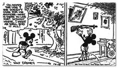 In a Mickey Mouse comic from the 1930s, Minnie cheated on Mickey with another mouse. Mickey then tried to kill himself