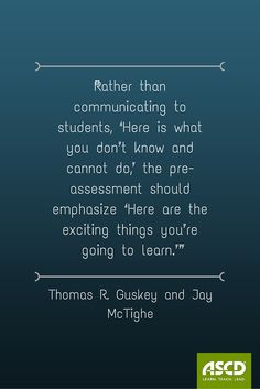 When—and when not—to use pre-assessments.