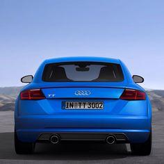 The new Audi TT in blue