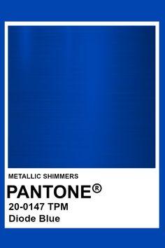 Diode Blue #Metallic #Pantone #Color Pantone Colour Palettes, Pantone Color, Metallic Blue, Metallic Colors, Solid Colors, Material Design 2, Blue Color Pallet, Yves Klein Blue, Blue Texture