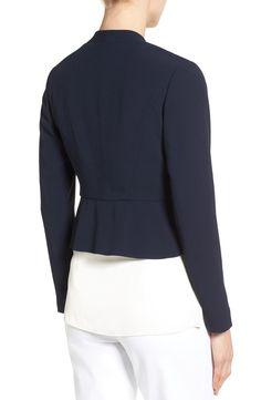 Main Image - Classiques Entier® Open Front Crepe Jacket