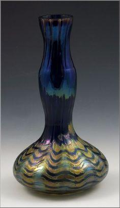 Lovely Loetz Art Glass Bottle Neck Vase